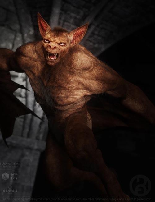 Bat Beast with dForce Hair for Genesis 8 Male