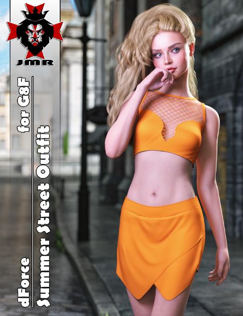 JMR dForce Summer Street Outfit for G8F