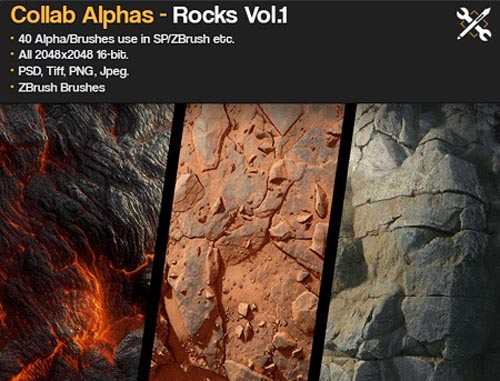 Gumroad – JRO Rock Brushes Daniel Thiger – Collab Alphas Vol.1