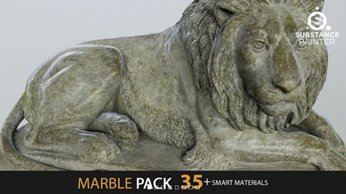 Gumroad - Marble Pack 35+ Smart Materials By Marco Tomaselli