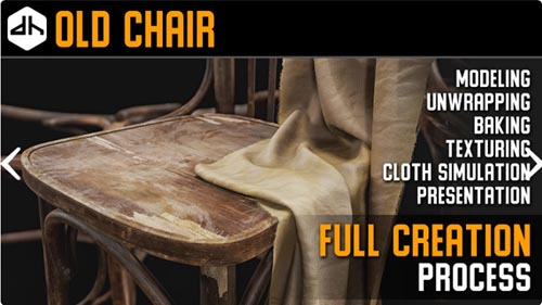 FlippedNormals – Digital Hunky – Old Chair Full Creation Process