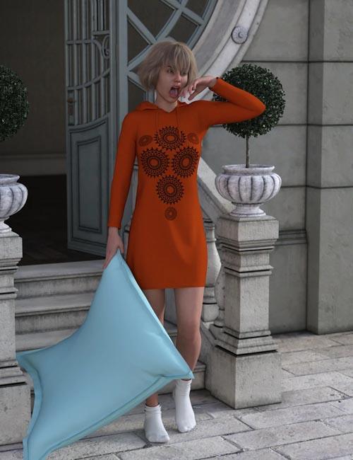 dForce Hoody Dress for Genesis 8 Female(s)