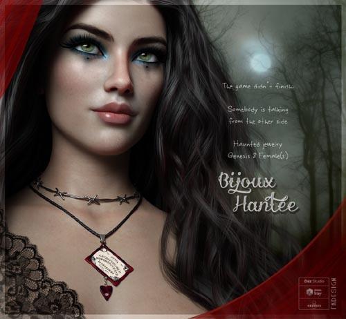Bijoux Hantee for Genesis 8 Females