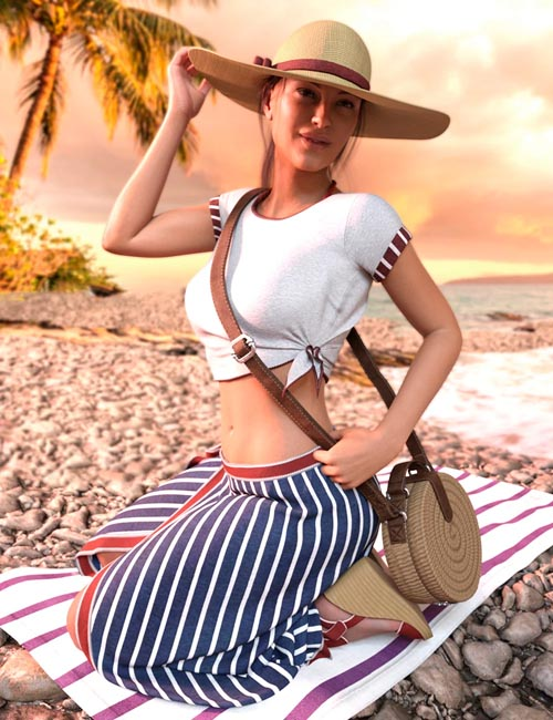 It's Always Summer Poses and Props for Genesis 8 Females