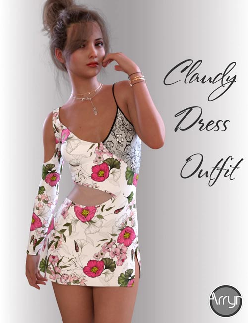 dForce Claudy Candy Dress for Genesis 8 Female(s)