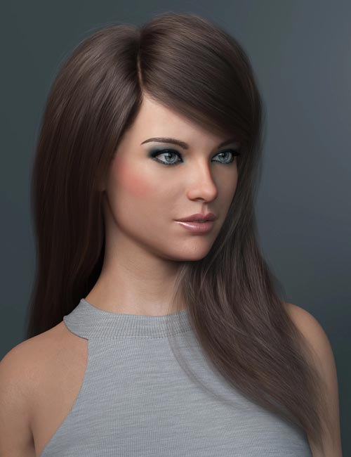 Swept Bangs Hair for Genesis 3 and 8 Females