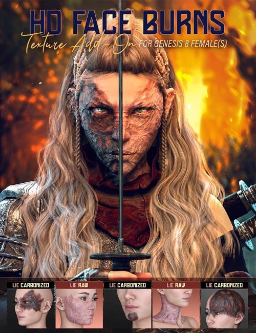 HD Face Burns AddOn for Genesis 8 Females