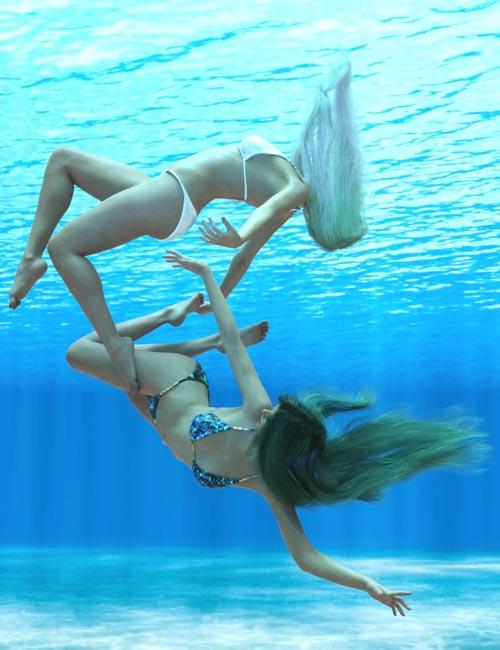 Underwater Poses for Genesis 8 Female