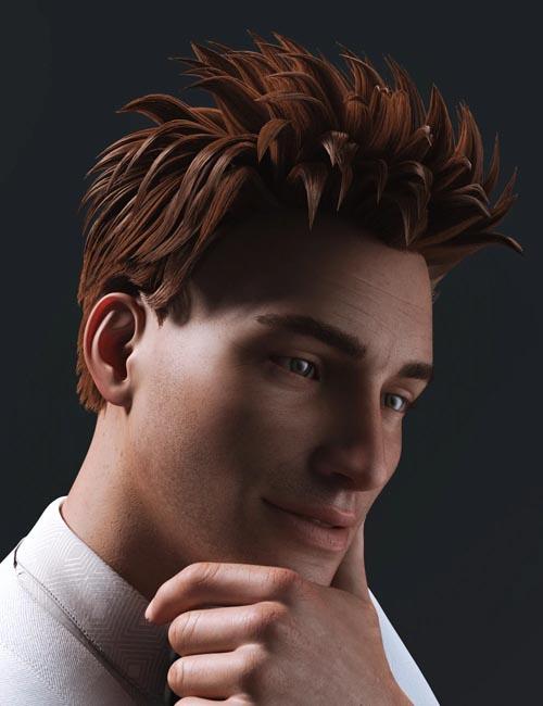 dForce Arix Hair for Genesis 8 Males