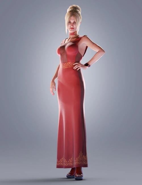 dForce COG Evening Dress for Genesis 8 Female(s)
