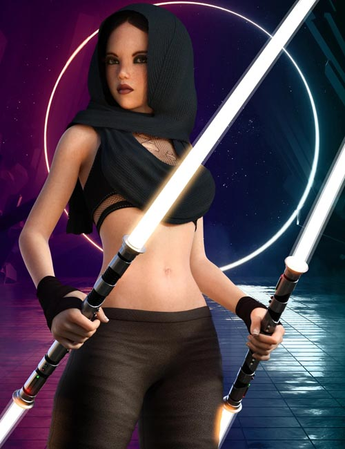 dForce Galactic Fighter II Outfit Set for Genesis 8 Female(s)