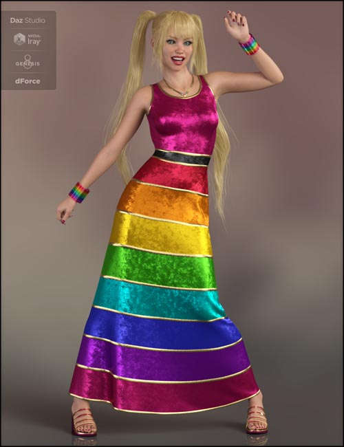 dForce Versatile Dress for Genesis 8 Female(s)