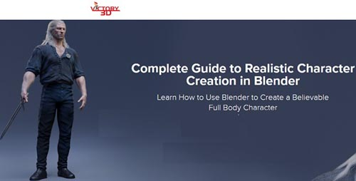 Victory3D – Complete Guide to Realistic Character Creation in Blender