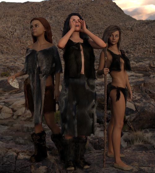 dForce Neolithic Outfits for Genesis 8 Female