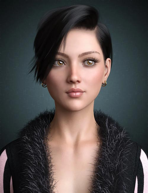 Janey Hair for Genesis 8 and 8.1 Female