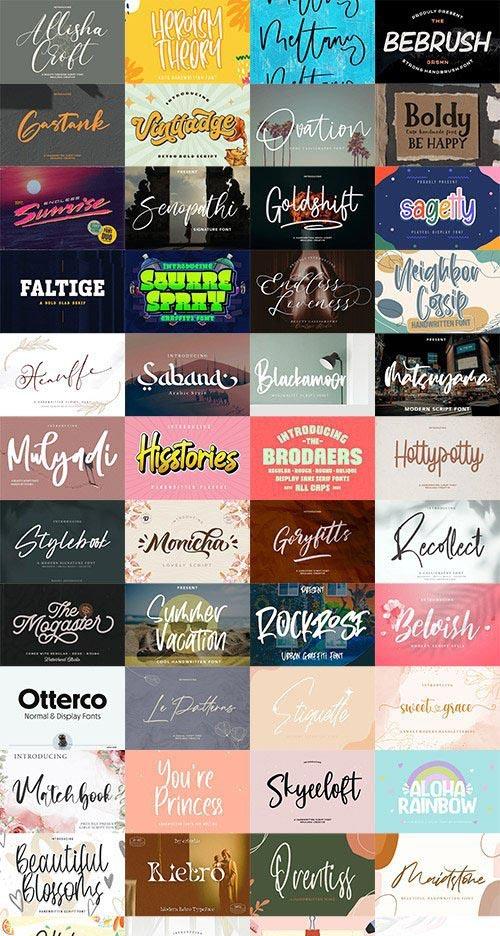 48 Awesome Fonts Bundle Vol.4