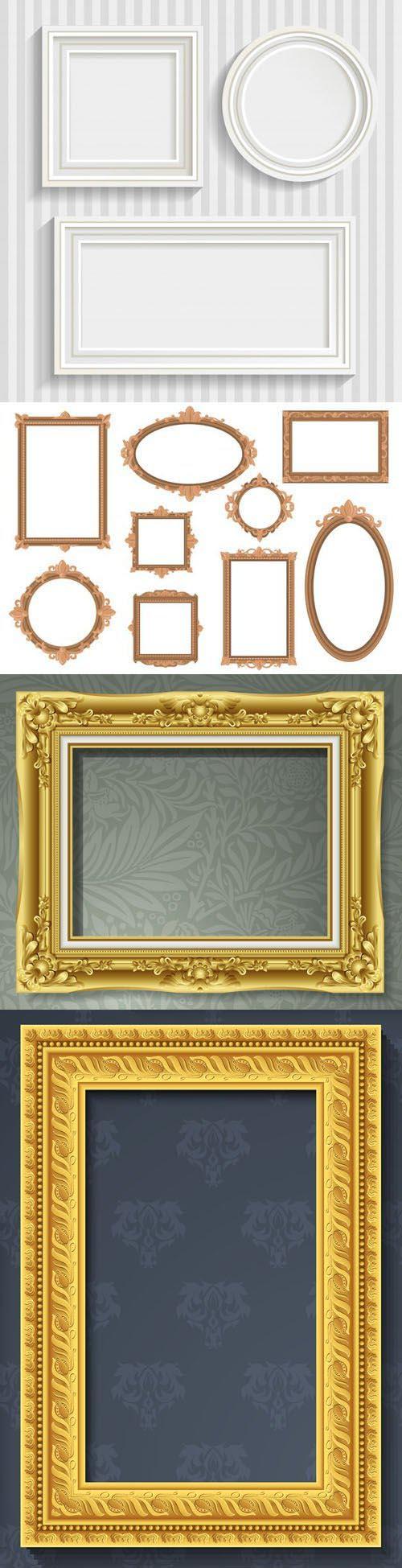 10 Realistic Photo Frames Vector Templates