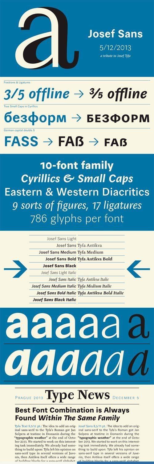 Josef Sans Font Family [10-Weights]