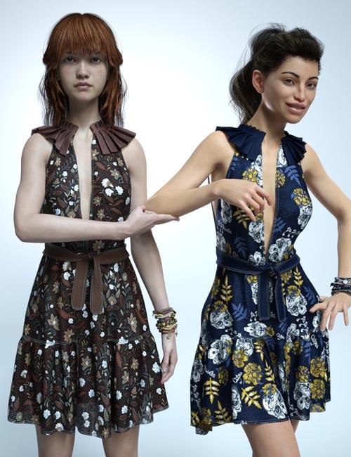 dForce Jasmine Outfit Textures