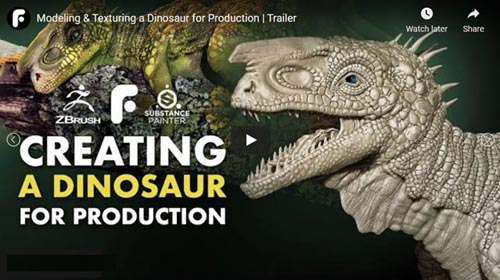FlippedNormals – Modeling & Texturing a Dinosaur for Production   Complete Edition