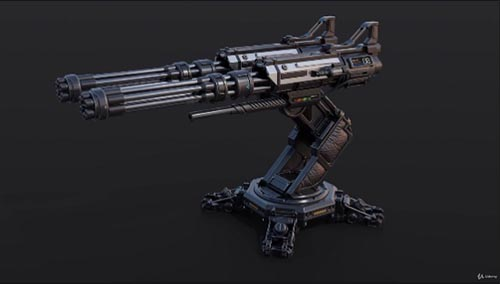 Udemy – Blender Complete PBR Art Creation : Sci-fi Crate and Turret
