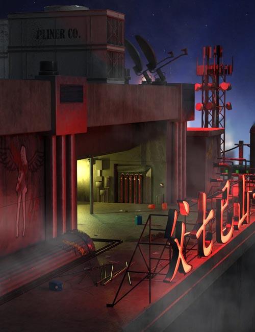 SciFi Rooftop CyberPunk