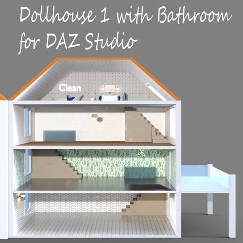 Dollhouse 1 with Bathroom