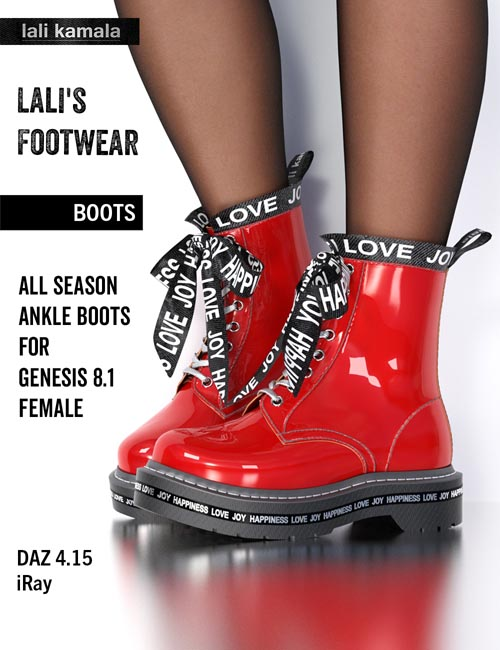Lali's Boots for Genesis 8 and 8.1 Females
