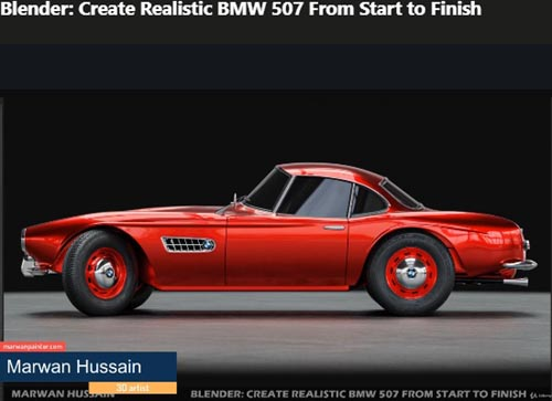 Udemy – Blender: Create Realistic BMW 507 From Start to Finish