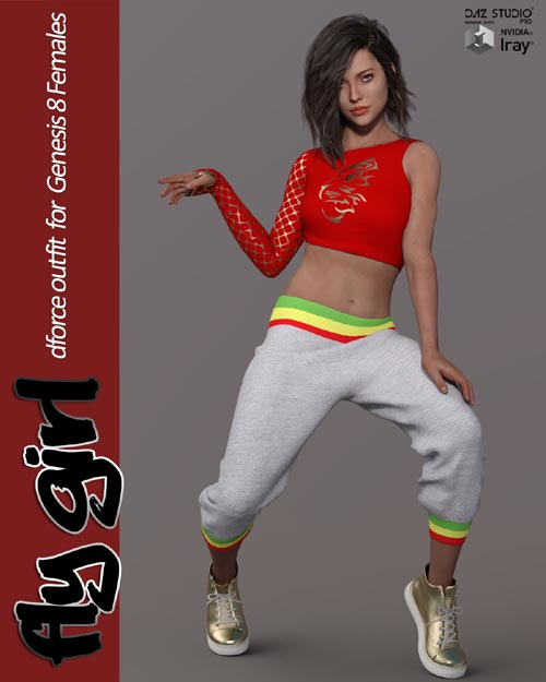 Fly Girl dForce outfit for Genesis 8 Females