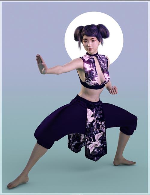 dForce Eastern Wind Outfit for Genesis 8 Females