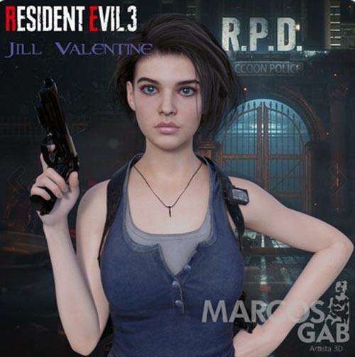 RE3E Jill Valentine For Genesis 8 Female