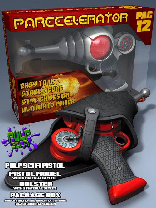 Pulp SciFi Pistol II for Poser and DS