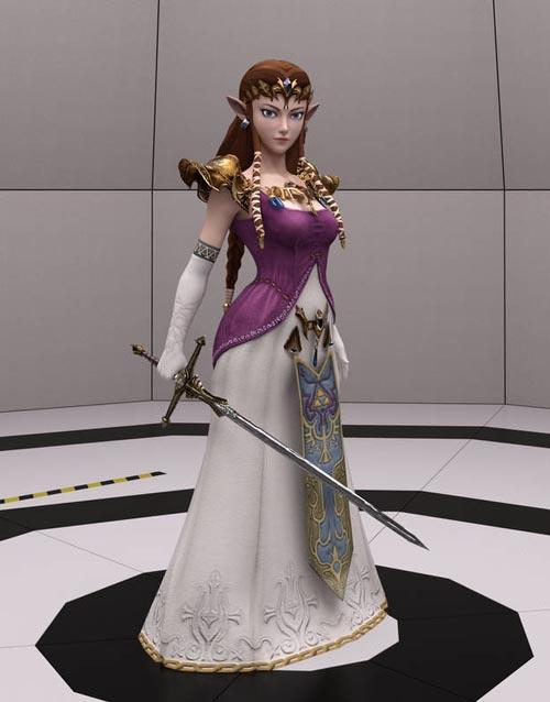 Twilight Princess Zelda for G8F and G8.1F