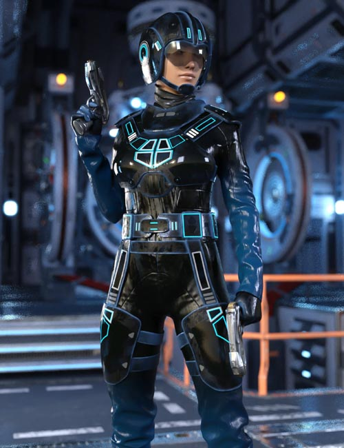 Space Runner Outfit for Genesis 8 Female(s)
