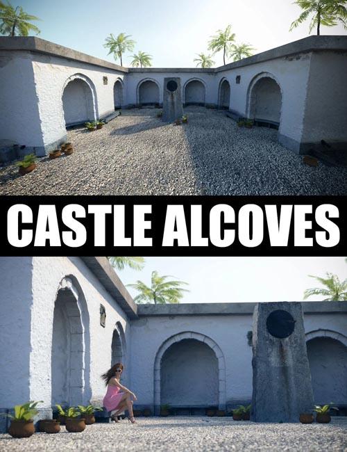 Castle Alcoves - Photo Scanned Scene