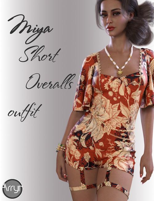 dForce Miya Short Overalls for Genesis 8.1 Females