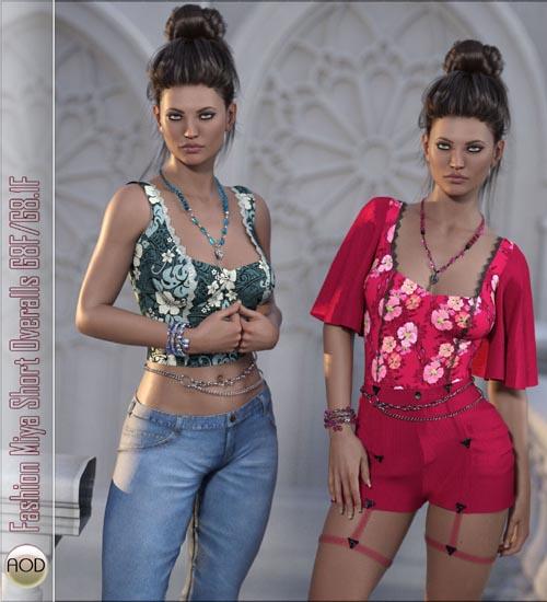 Fashion Miya Short Overalls G8.1F
