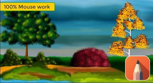 Udemy – Autodesk Sketchbook Beginner Course-Foliage Digital Painting