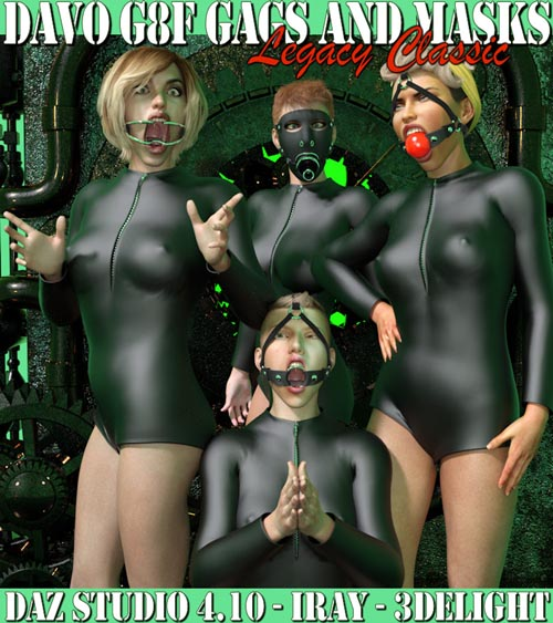 """Legacy Classic Davo """"Genesis 8 Female Gags And Masks"""""""