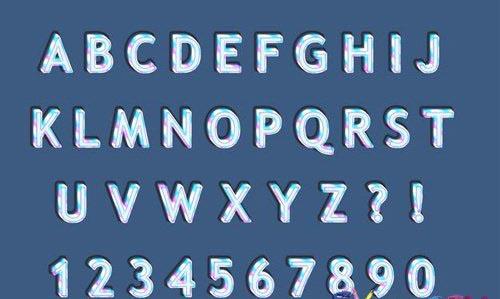 Rainbow ice 3d alphabets numbers set