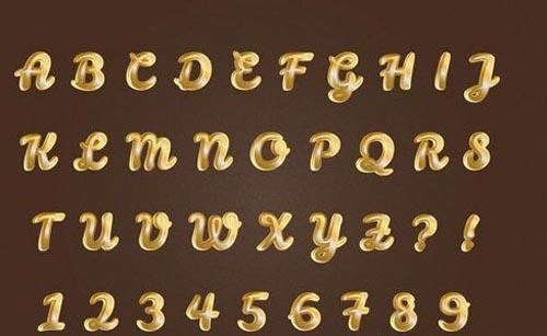 Pure golden alphabets numbers set