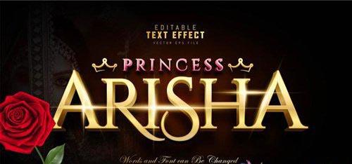 Princess arisha text effect