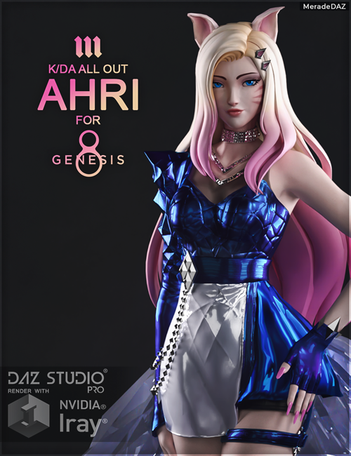 Ahri KDA ALL OUT for Genesis 8 and 8.1 Female