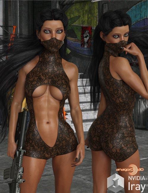 BLACKHAT - Fearless for Genesis 8 Females