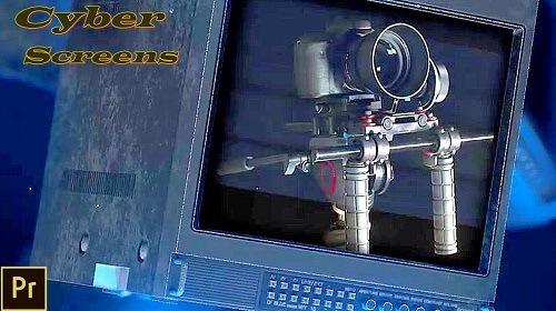 Cyber Screens 989133 - Premiere Pro Templates