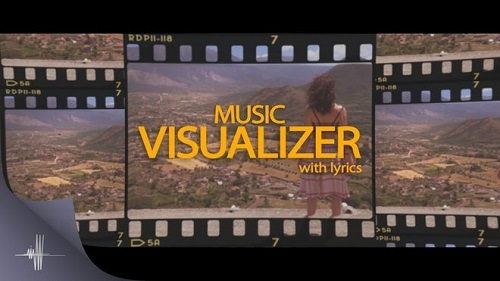 Music Visualizer Letters With Lyrics 779188 - Project for After Effects