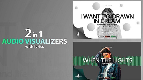 Music Visualizer Modern With Lyrics 755 - Project for After Effects