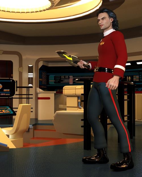 Space Fleet Uniform (M4) (for Poser)