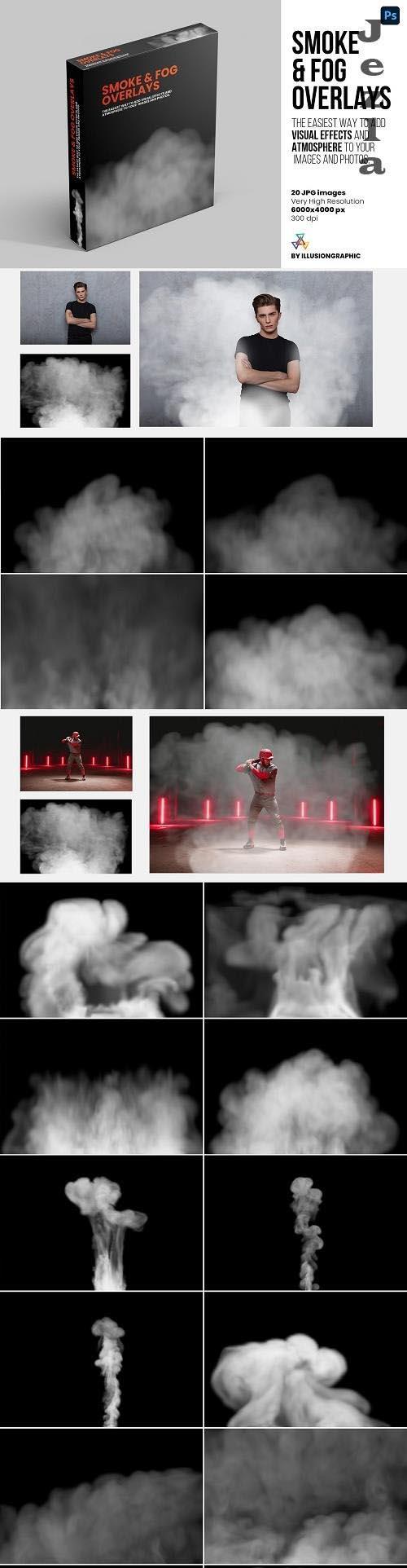 Smoke & Fog Overlays - 20 JPG - 6324671